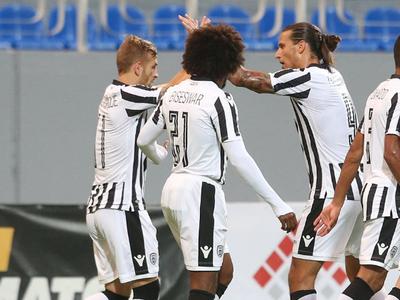 PAOK Solún oslavuje gól