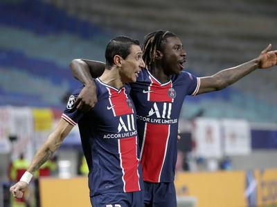 Angel di María a  Moise Kean sa radujú z gólu