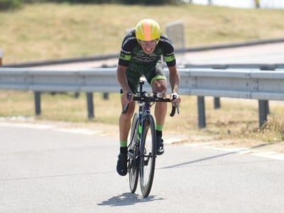 Na snímke slovenský cyklista