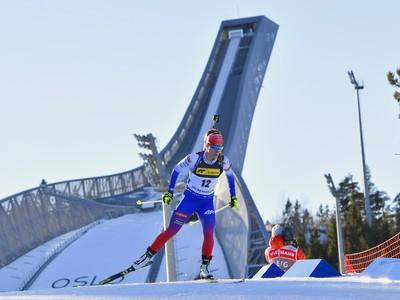 Na snímke slovenská biatlonistka Paulína Fialková na trati v šprinte žien na 7,5 km počas