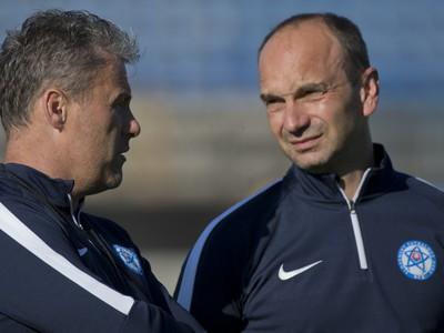 Vľavo tréner Pavel Hapal a vpravo Oto Brunegraf
