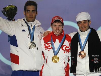 Martin Fourcade, Yevgenij Ustyugov a Pavol Hurajt