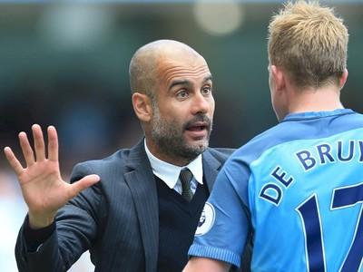 Pep Guardiola a Kevin