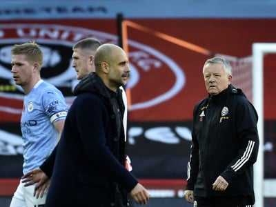 Pep Guardiola a Chris Wilder