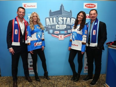 Richard Lintner a Peter Bondra o All Star 2018