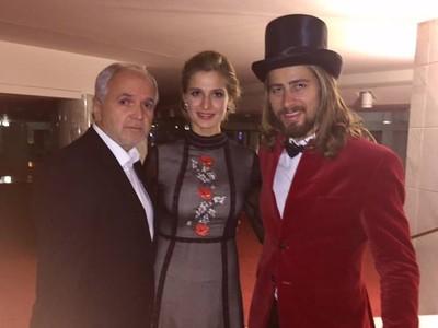 Peter Sagan s manželkou Katkou a Jozef Korbel