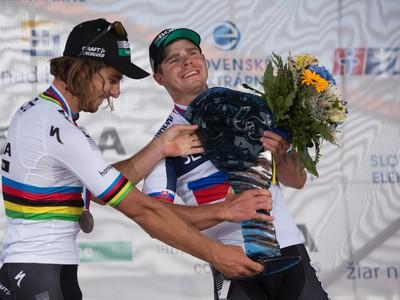 Na snímke slovenskí cyklisti