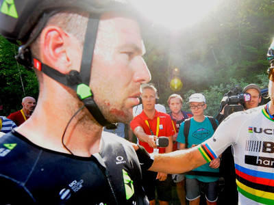 Mark Cavendish a Peter