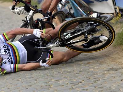 Peter Sagan utrpel tvrdý