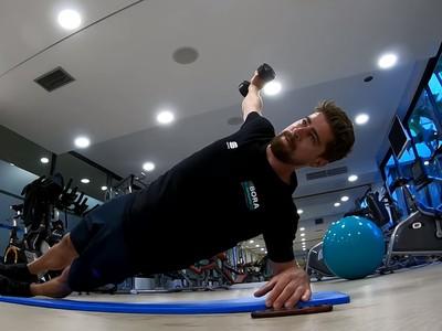 Peter Sagan počas tréningu