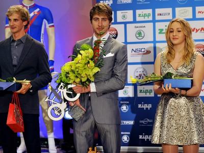 Ocenení cyklisti, sprava: Tatiana