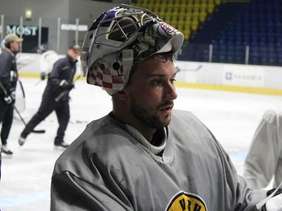 Petr Mrázek na tréningu