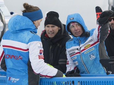 Petra Vlhová a taliansky tréner Livio Magoni