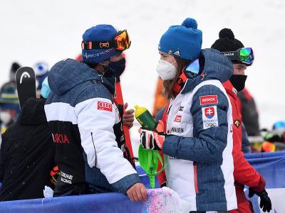 Petra Vlhová a brat Boris Vlha