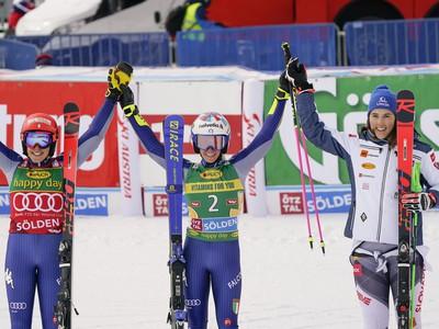 Marta Bassinová, Federica Brignoneová a Petra Vlhová