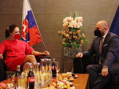 Minister obrany privítal Vlhovú a venoval jej zážitkový deň