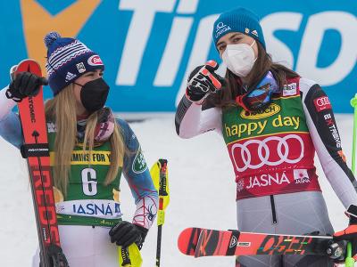 Mikaela Shiffrinová a Petra Vlhová