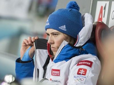 Petra Vlhová po prvom kole nočného slalomu vo Flachau