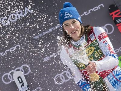 Na snímke slovenská slalomárka