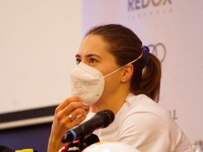 Petra Vlhová počas tlačovej konferencie pred sezónou 2021/22