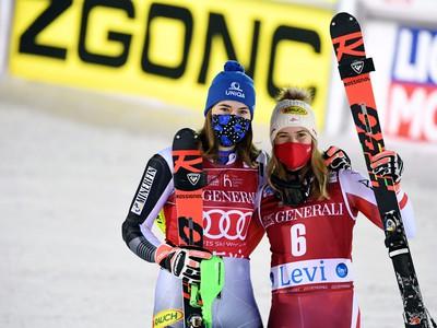 Petra Vlhová a Katharina Liensbergerová