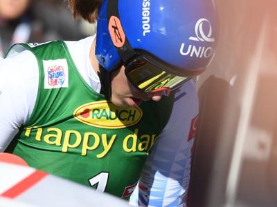 Na snímke slovenská lyžiarka Petra Vlhová po 2. kole obrovského slalomu žien Svetového pohára