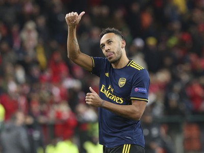 Hráč Arsenalu Pierre-Emerick Aubameyang