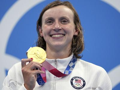 Americká plavkyňa Katie Ledecká