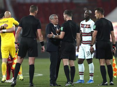 Hráči a tréner Portugalska