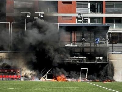 Požiar na Národnom štadióne