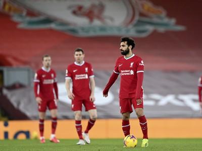 Frustrovaný Mohamed Salah a