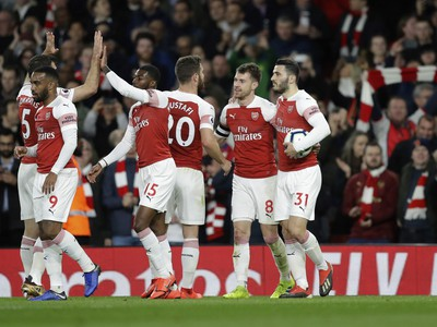 Gólové oslavy futbalistov Arsenalu