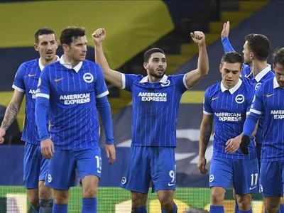 Gólová radosť hráčov Brightonu