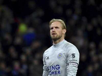 Brankár Leicesteru Kasper Schmeichel