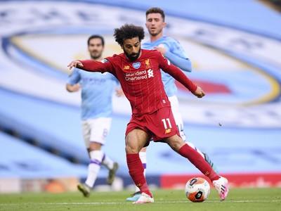 Mohamed Salah strieľa na