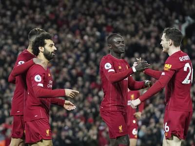 Mohamed Salah oslavuje so
