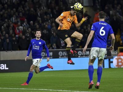 Momentka zo zápasu Wolverhampton - Leicester