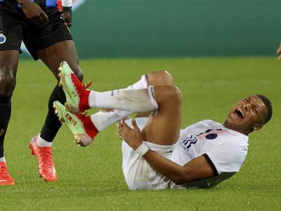 Kylian Mbappé v bolestiach
