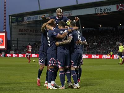 Gólová radosť hráčov PSG