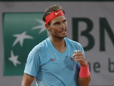 Rafael Nadal počas štvrťfinálového súboja na Roland Garros