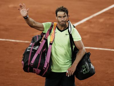 Sklamaný Rafael Nadal po