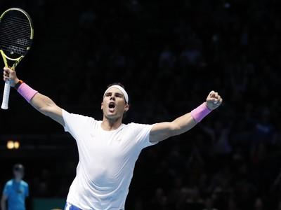 Rafael Nadal sa teší z ďalšieho víťazstva na Turnaji majstrov