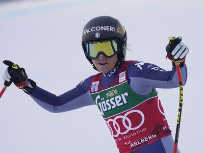 Sofia Goggiová vyhrala zjazd žien Svetového pohára v alpskom lyžovaní v rakúskom stredisku St. Anton