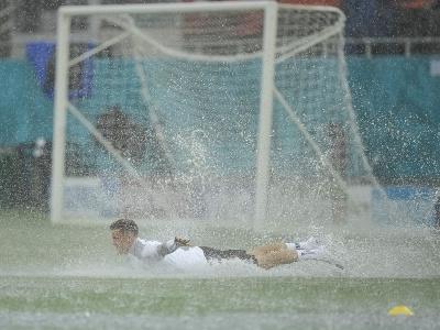 Hustý dážď v Bukurešti