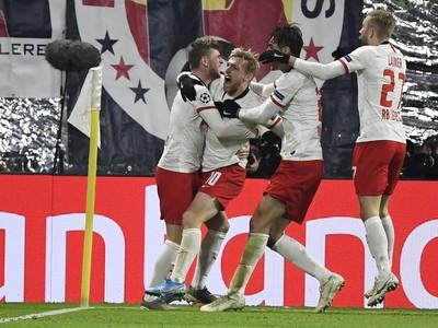 Hráči Lipska oslavujú strelený