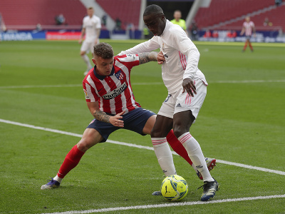 Momentka zo zápasu Real Madrid - Atlético Madrid