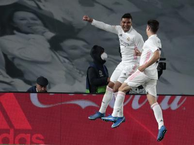 Casemiro oslavuje gól so