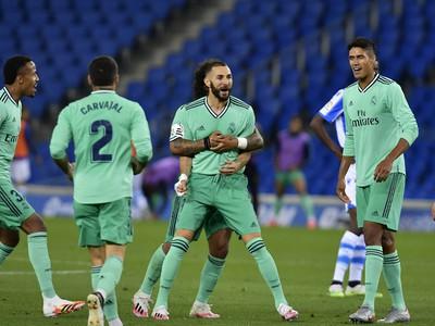 Gólové oslavy hráčov Realu