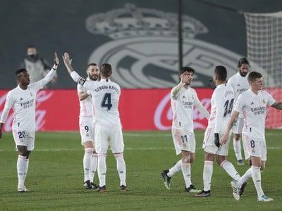 Gólová radosť hráčov Realu Madrid