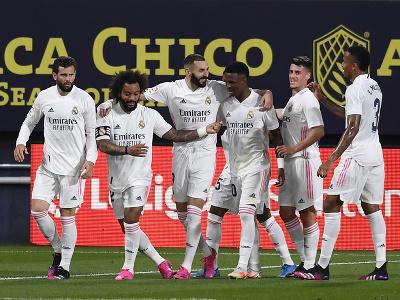 Futbalisti Realu Madrid oslavujú